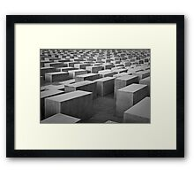 Endless Blocks Framed Print