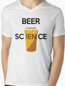 BEER is made from SCIENCE Mens V-Neck T-Shirt