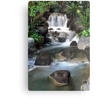 Treehouse Waterfall Metal Print