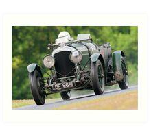 Vintage car racing. Art Print