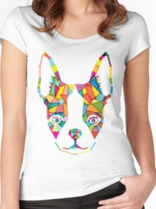 Rainbow Bulldog Women's Fitted Scoop T-Shirt