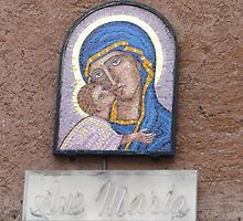 """Ave Maria"" house shrine, Rome 2012 by kgarrahan"