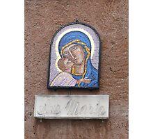 """Ave Maria"" house shrine, Rome 2012 Photographic Print"
