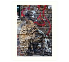 Street Art in London ( Swoon series) Art Print