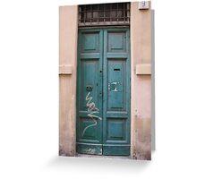 Roman Doors, #1 (March 2012) Greeting Card