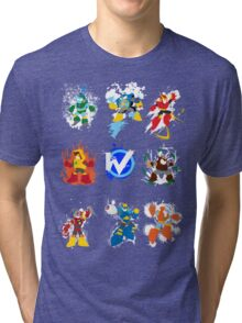 Robot Masters of Mega Man 2 Tri-blend T-Shirt