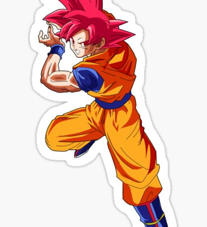 Dragon Ball Z Super Saiyan God Goku Sticker