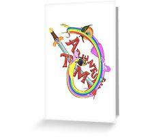 Adventure Time Mash Greeting Card