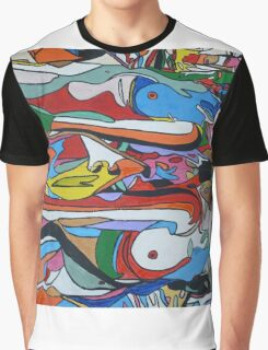 Spin Art 'Psychedelic Smooching Nudes'  Graphic T-Shirt