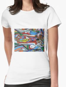 Spin Art 'Psychedelic Smooching Nudes'  Womens Fitted T-Shirt