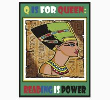 Q IS FOR QUEEN BOOK COVER TEE Kids Clothes