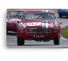 Classic car racing. Canvas Print