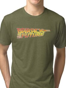 Barack to the Future Tri-blend T-Shirt
