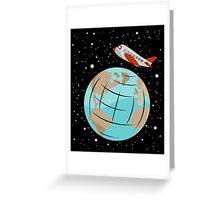 Space trip Greeting Card