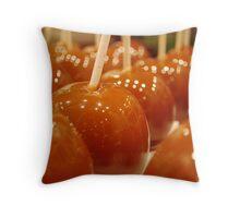 Caramel Apples Throw Pillow