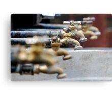 Faucets Metal Print