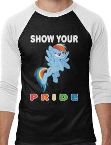 Show Your Pride Rainbow Dash Men's Baseball ¾ T-Shirt