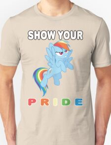 Show Your Pride Rainbow Dash T-Shirt