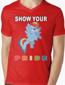 Show Your Pride Rainbow Dash Mens V-Neck T-Shirt