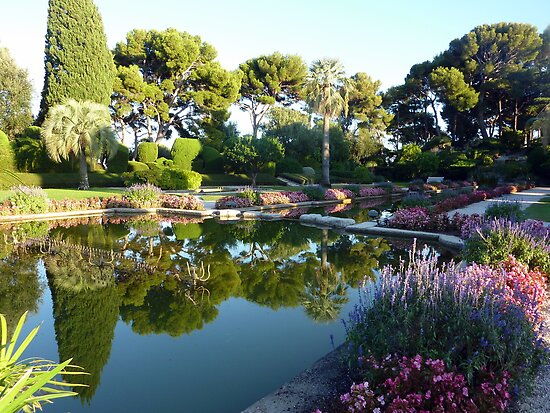 The Garden Of The Rothschild Villa On Cap Ferrat by Fara