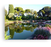 The Garden Of The Rothschild Villa On Cap Ferrat Canvas Print