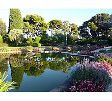 The Garden Of The Rothschild Villa On Cap Ferrat Photographic Print