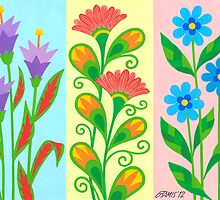 TREE NICE FANTASY FLOWERS by RainbowArt