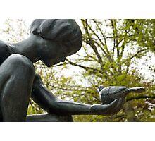 Boy and Bird Fountain, Boston Public Garden, Boston MA Photographic Print