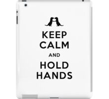 Keep Calm and Hold Hands (Otters holding hands) Black design iPad Case/Skin