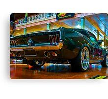 1967 Green Mustang Canvas Print