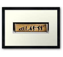 Darwin's Evolution of the Silly Walk Framed Print