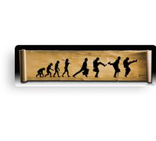 Darwin's Evolution of the Silly Walk Canvas Print