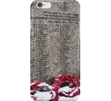 Monmouth Castle War Memorial 3 iPhone Case/Skin