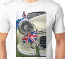 2 Morris Minor with flag Unisex T-Shirt