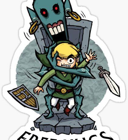 Zelda Wind Waker FREE HUGS  Sticker