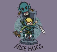 Zelda Wind Waker FREE HUGS  Kids Tee