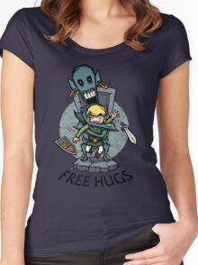 Zelda Wind Waker FREE HUGS  Women's Fitted Scoop T-Shirt