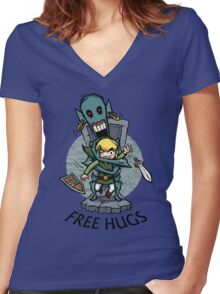 Zelda Wind Waker FREE HUGS  Women's Fitted V-Neck T-Shirt