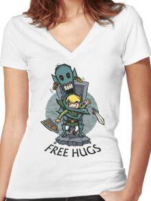 Zelda Wind Waker FREE HUGS  Women's Fitted V-Neck T-Shirt