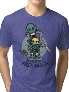 Zelda Wind Waker FREE HUGS  Tri-blend T-Shirt