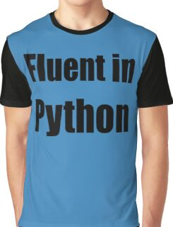Fluent in Python - Black on Blue for Python Programmers Graphic T-Shirt