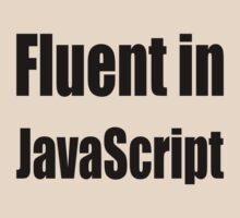 Fluent in JavaScript - Black on Yellow/Creme for Web Developers by ramiro