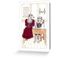 Anne Hathaway and William ShakespeareA couple of Scottish Deerhounds Greeting Card