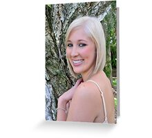 Blond by the papaerbark Greeting Card