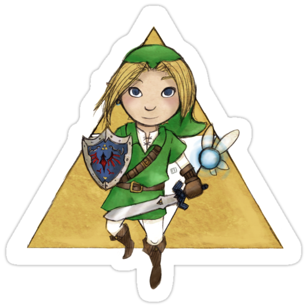Ocarina of Time Sticker by Lixxie-B
