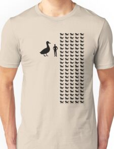 Horse-Sized Duck vs. 100 Duck-Sized Horses T-Shirt