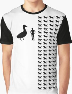 Horse-Sized Duck vs. 100 Duck-Sized Horses Graphic T-Shirt