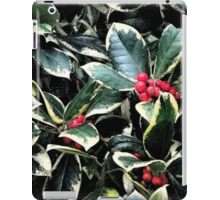 Holly Berries and Leaves iPad Case/Skin