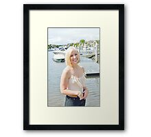 Blond and boats Framed Print