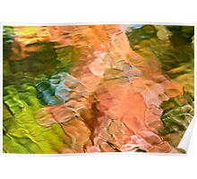 Salmon Mosaic Abstract Poster